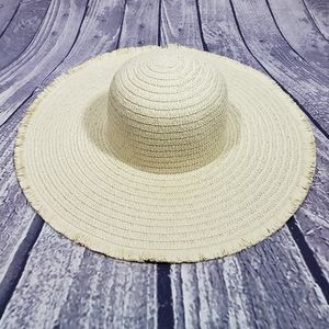 BOGO Straw Fringe Floppy Beach Hat